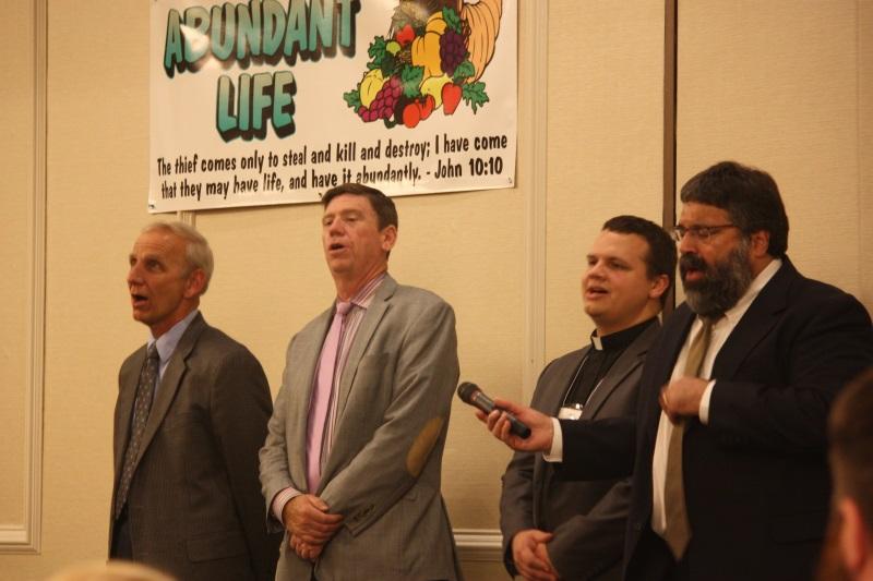 David Haschig, elder Messiah Lutheran; David Stewart, pastor New Life; David Jacoby, pastor Messiah Lutheran; and David Bodanza, pastor Mission St. CC