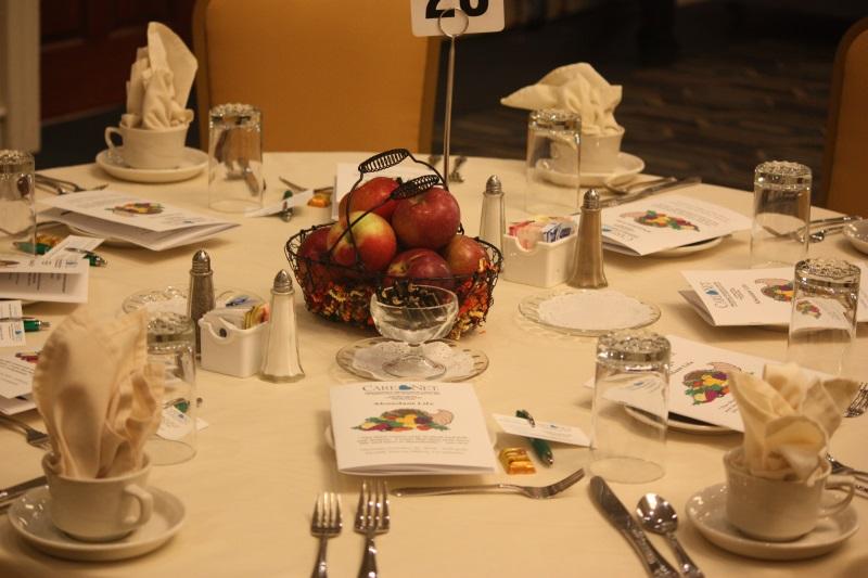 """Abundant Life"" table setting"